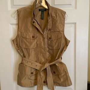 Ralph Lauren gold vest with belt - worn once!